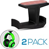 Brainwavz BigJ Headphone Stand (2 Pack) Under Desk Hanger for Headphones, Gaming Headsets, Mobiles Accessories, Stick On, No Screws, Black