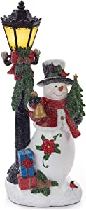 VP Home Christmas Snowman with LED Glowing Lamppost Holiday Light