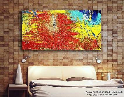Dipinti Per Soggiorno : Tamatina modern art tela dipinti rosso splatter dipinto