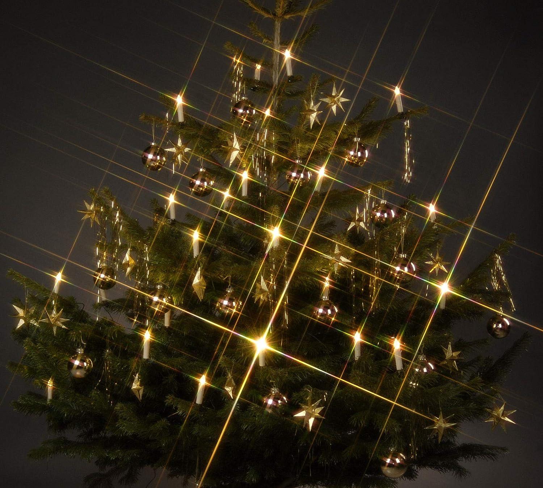 Trango TG340146 24x LED Weihnachtskerzen mit Stecksystem Innenbereich warm-weiß [Energieklasse A+] TG 3243-240