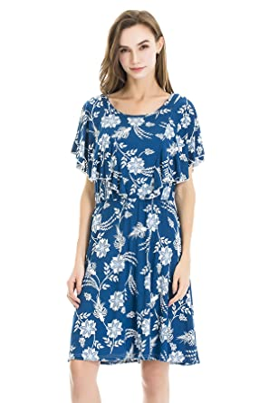 e8f07b912fab Bearsland Women s Summer Floral Cloak Design Maternity Breastfeeding ...