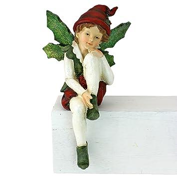 Amazon.com: Christmas Decorations - Emmanuel, Santa's Xmas Elf Shelf ...