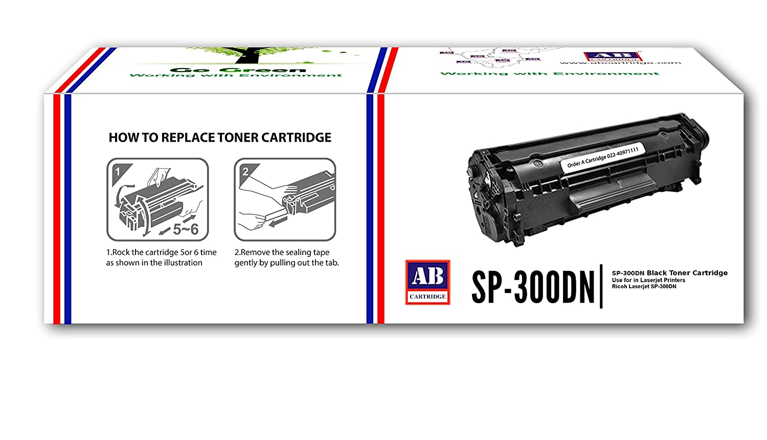AB SP-300DN Compatible Black Toner Cartridge for Ricoh SP-300DN (HSN Code:  84439959)