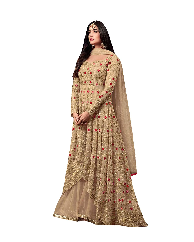 cd9a5675da ziya Indian/Pakistani Ethnic wear Net Lahenga Type Salwar Kameez Maisha at Amazon  Women's Clothing store: