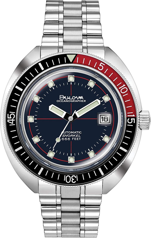 Special Men's Watch Devil Edition 98b320 Oceanographer Series Diver Bulova Bracelet Archive ZiPkuXO