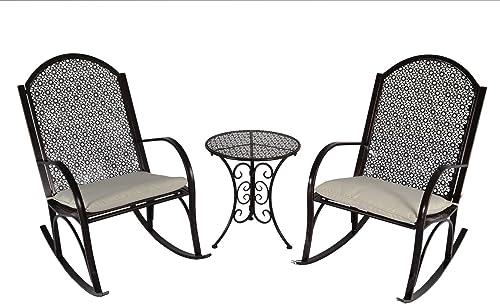 Tortuga Outdoor GR-3PC Garden Rocker 3 Piece Rocking Chair Set