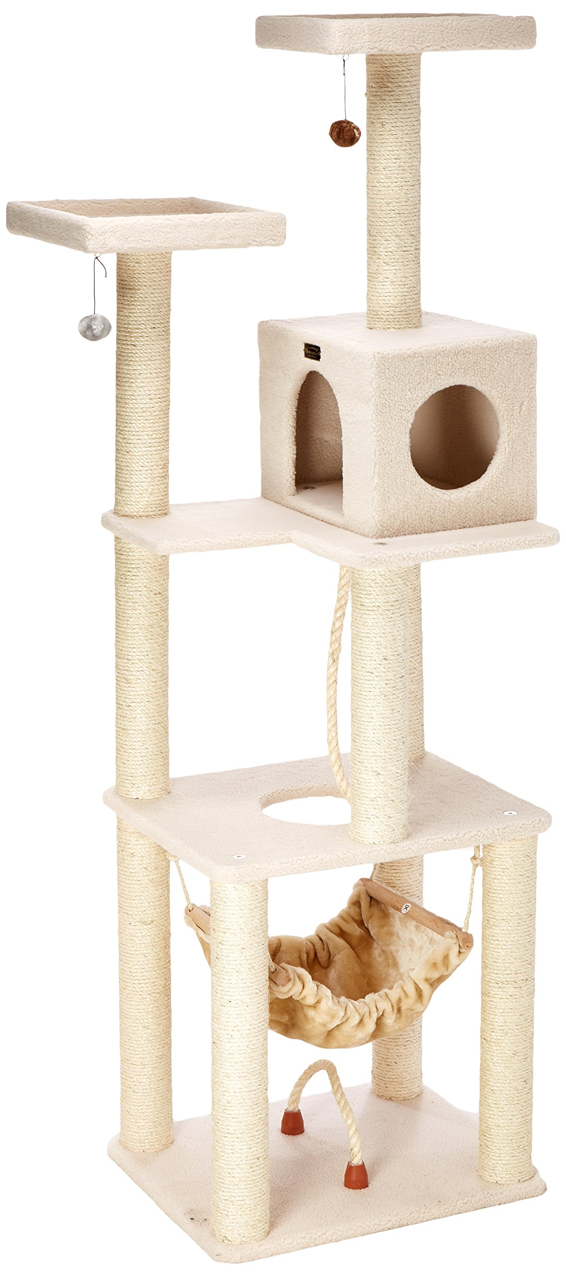 Armarkat Deluxe Cat Tree, Model B7301, Ivory