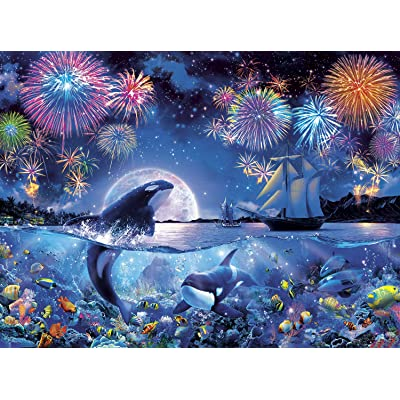 Buffalo Games - Marine Color - The Dramatic Night - 1000 Piece Jigsaw Puzzle: Toys & Games