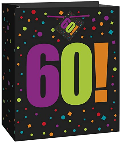 Amazon Large Birthday Cheer 60th Gift Bag Kitchen Dining