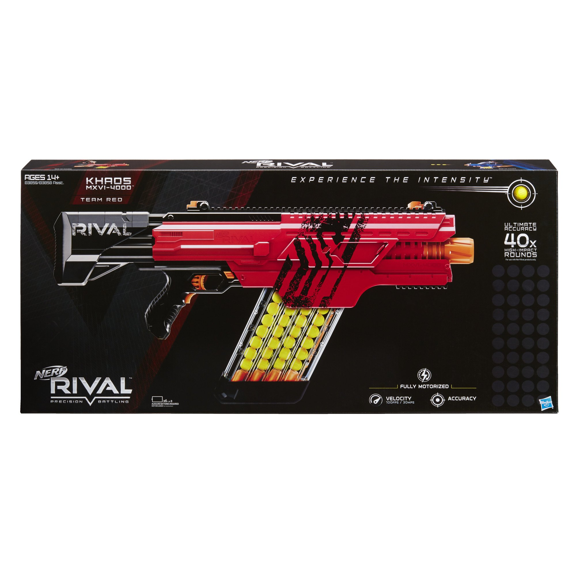 Nerf Rival Khaos MXVI-4000 Blaster (Red) by NERF (Image #2)