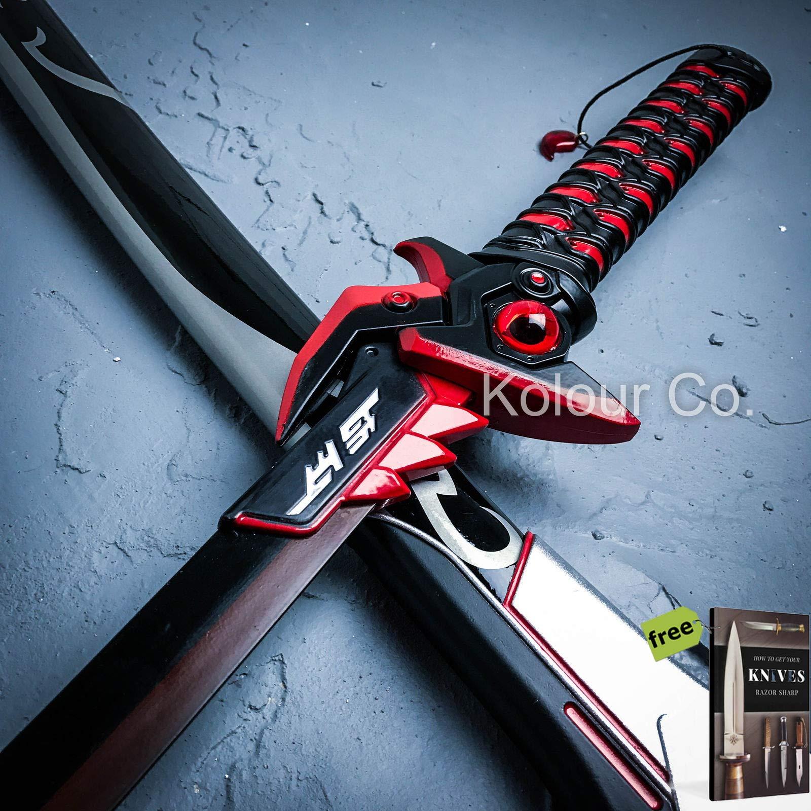 44'' Overwatch Game Genji Oni Metal Sword OW Weapon 1:1 NEW Cosplay LARP Props + Free eBook by SURVIVAL STEEL