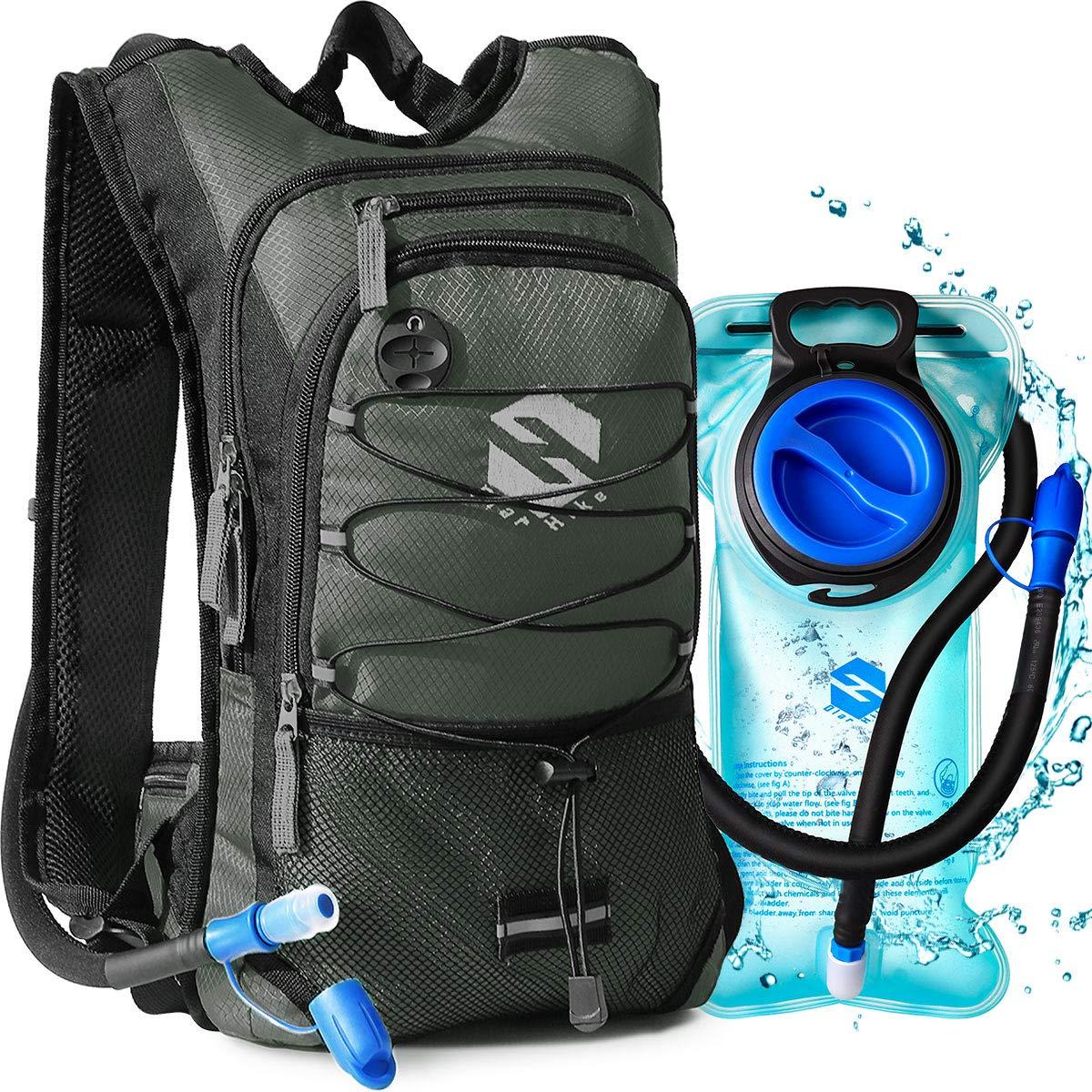 OlarHike Hydration Backpack Pack with 2L BPA Free Leak-Proof Bladder, Insulated Water Backpack for Hiking,Biking,Running,Camping by OlarHike