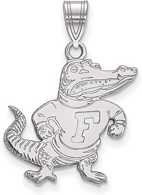 University of Florida Albert E Gator Standing Mascot Pendant in Sterling Silver 13x13mm