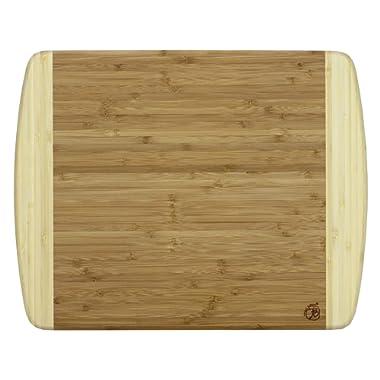 Totally Bamboo 20-1200 Kauai Bamboo Serving & Cutting Board, 14  x 11.5 , Kauai-14 x 11 1/2