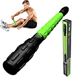Physix Gear Sport Muscle Roller Stick - Best Deep Tissue Massager for Trigger Points, Leg Cramps, Quads, Calf & Hamstring Tightness - Myofascial Release - Travels Easily and No Annoying Squeaks
