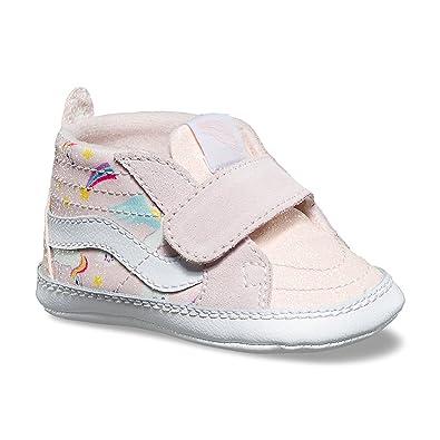 f04a7dccf85882 Vans Infant SK8-Hi Crib (Glitter Pegasus) Heavenly Pink True White  VN00018PU07