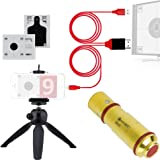 LaserHIT Dry Fire Training Kit - 9MM/40,000 hits battery life High Performance Laser Training Cartridge, Lightning-to-HDMI cable, tripod mini, 2 authentic targets, free mobile app