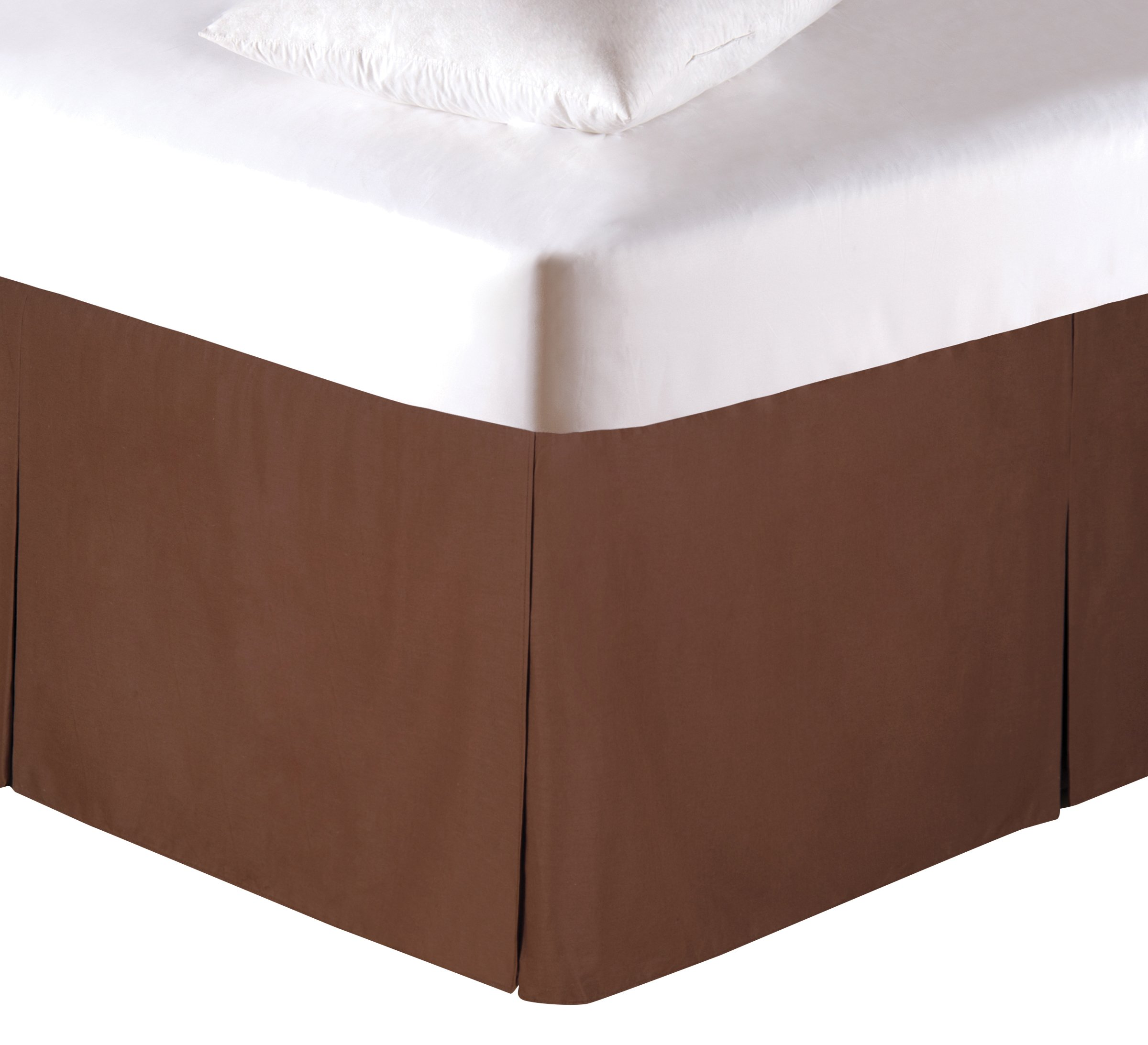 C&F Home Bed Skirt, King, Brown