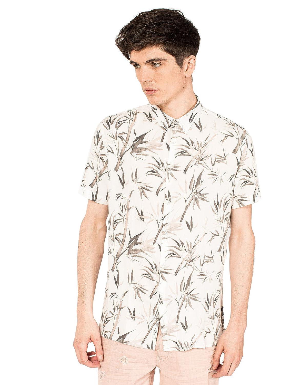 Clayton Camisa Casual - para Hombre Arena L: Amazon.es: Ropa y ...