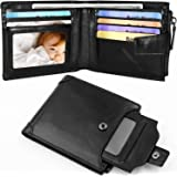 Mens Genuine Long Leather Wallet Large Capacity Phone Card Slot Case
