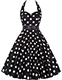 GRACE KARIN Women Halter 1950's Retro Vintage Swing Dress CL4599