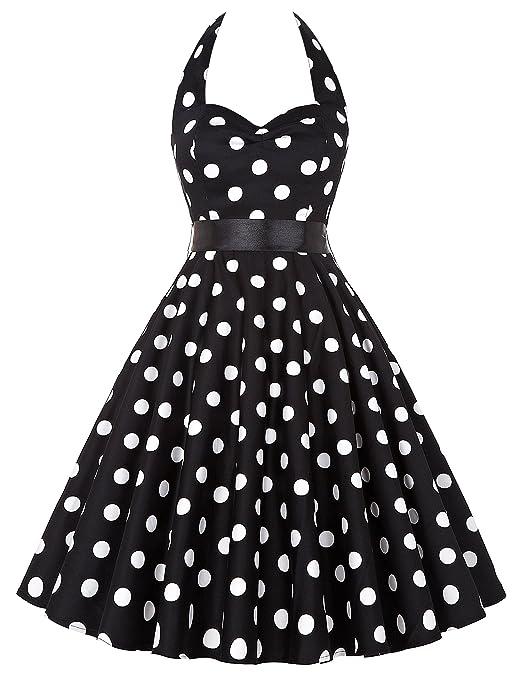 61 opinioni per GRACE KARIN® Donne 1950 Vintage con allacciatura al collo di Polka Dots Casual