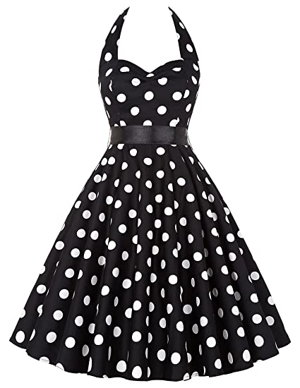 884cd7985aa GRACE KARIN Femme Robe 50 s Vintage Rockabilly Robe Année 50 Cocktail sans  Manche Robe