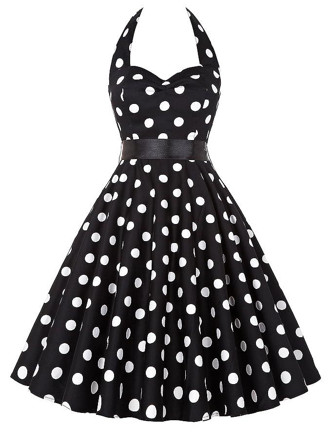 69 opinioni per GRACE KARIN Retrò Chic Stile Halter Vintage 1950 Audrey Hepburn Vestito Donne