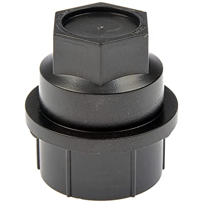Dorman 711-025 Black Wheel Nut Cover - M27-2.0, Pack of 4: Automotive