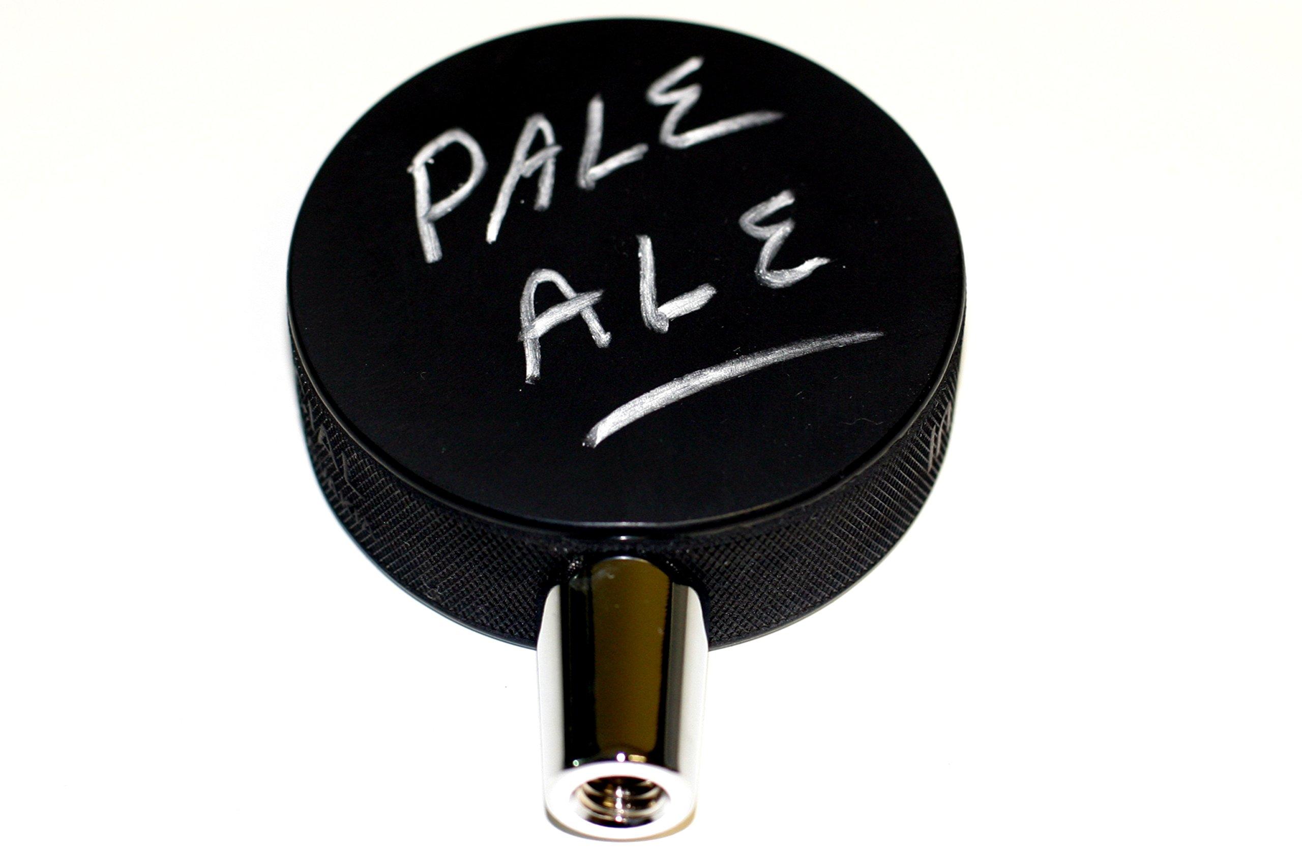 Blank Black Chalkboard Hockey Puck Beer Tap Handle