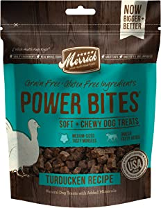 Merrick Power Bites All Natural Grain Free Gluten Free Soft & Chewy Chews Dog Treats