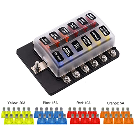 amazon com vetomile 12 way fuse box blade fuse holder screw nut rh amazon com automotive fuse box amazon automotive fuse box design