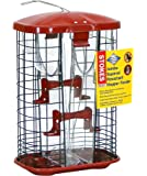 Stokes Select Jumbo Squirrel Resistant Bird Feeder with Four Feeding Ports, Red, 7.2 lb Seed Capacity
