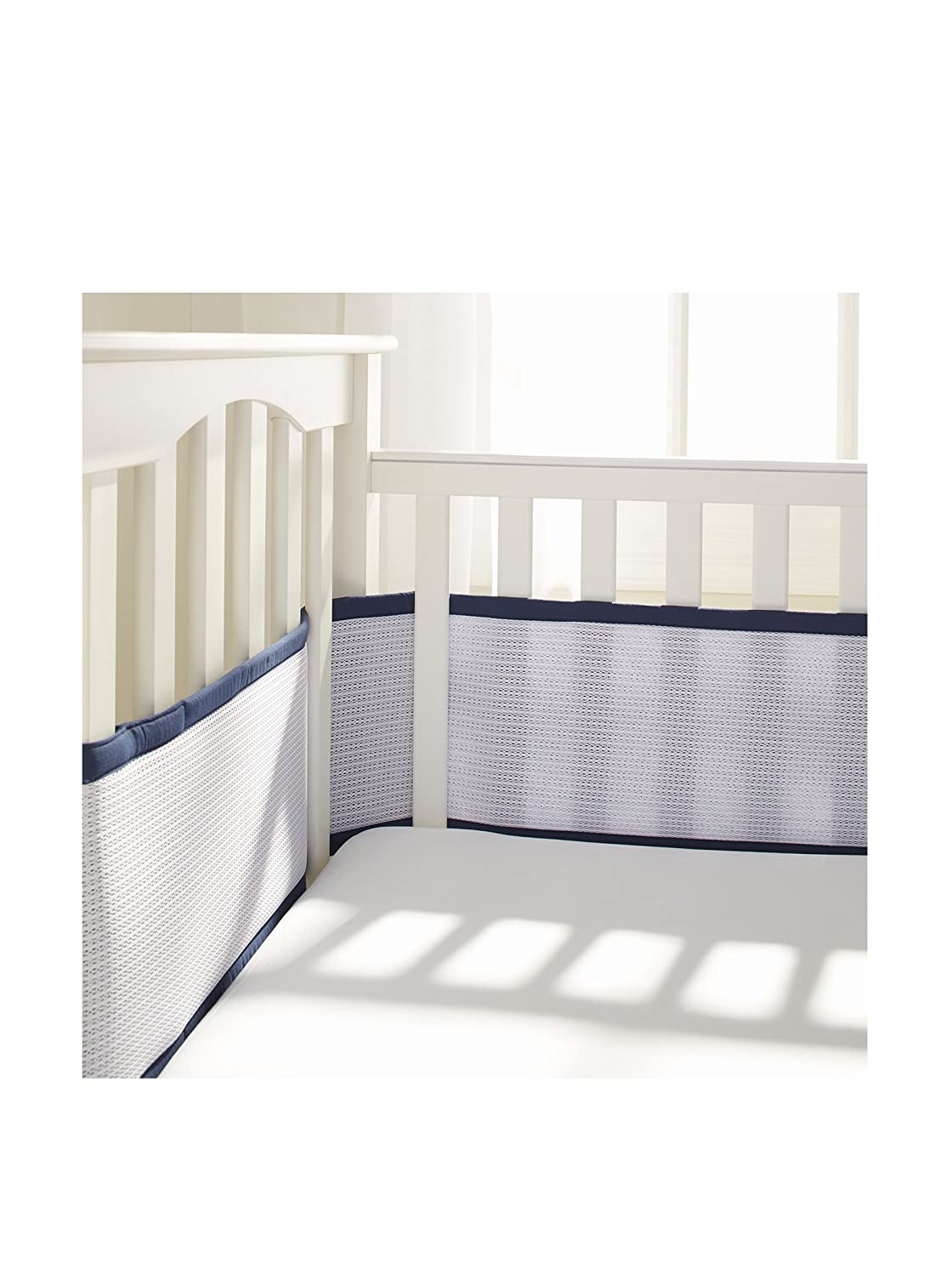 BreathableBaby |Deluxe Breathable Mesh Crib Liner | Navy 25109