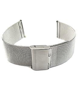 YouYouPifa Smaller, Slimmer, Lighter Stainless Steel Shark Mesh Milanese Watch Band 18mm
