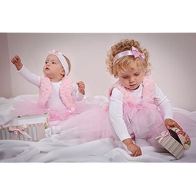 Gilet bébé enfants gilet Gilet en rose en fourrure synthétique Taille 86