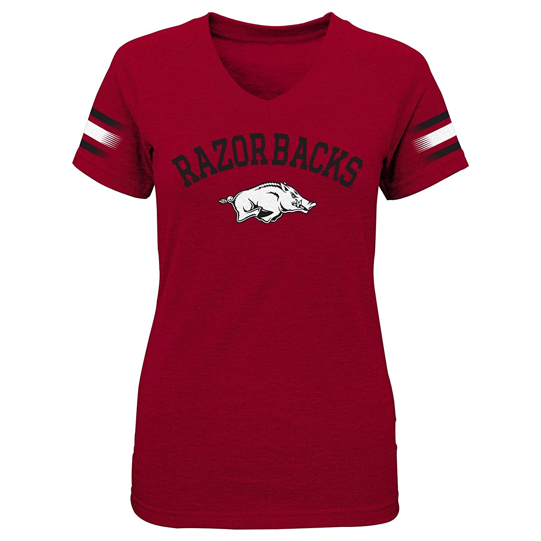 NCAA by Outerstuff NCAA Kansas Jayhawks Youth Girls Fan-Tastic Short Sleeve Tee Dark Red 10-12 Youth Medium