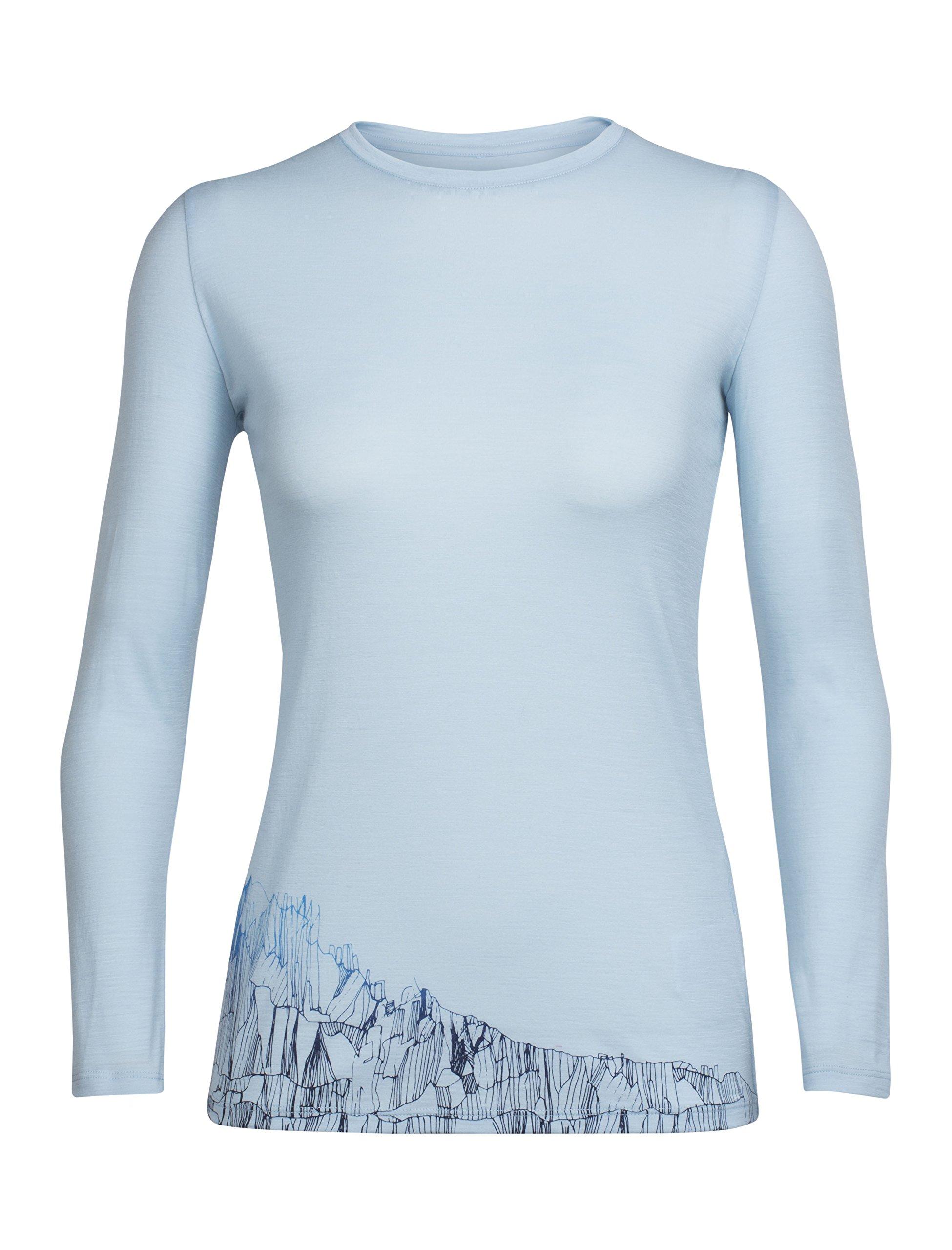 Icebreaker Merino Wmns tech lite ls crewe Alpenglow, Ice Blue, X-Large