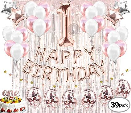 Amazon.com: Decoración para primera cumpleaños de niña ...