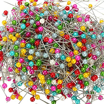Colorful Round Pearl Head Dressmaking Quilting Pins for Crafts Sewing Decorations Pengxiaomei 480 Pcs Sewing Pins Straight Pins Head pins