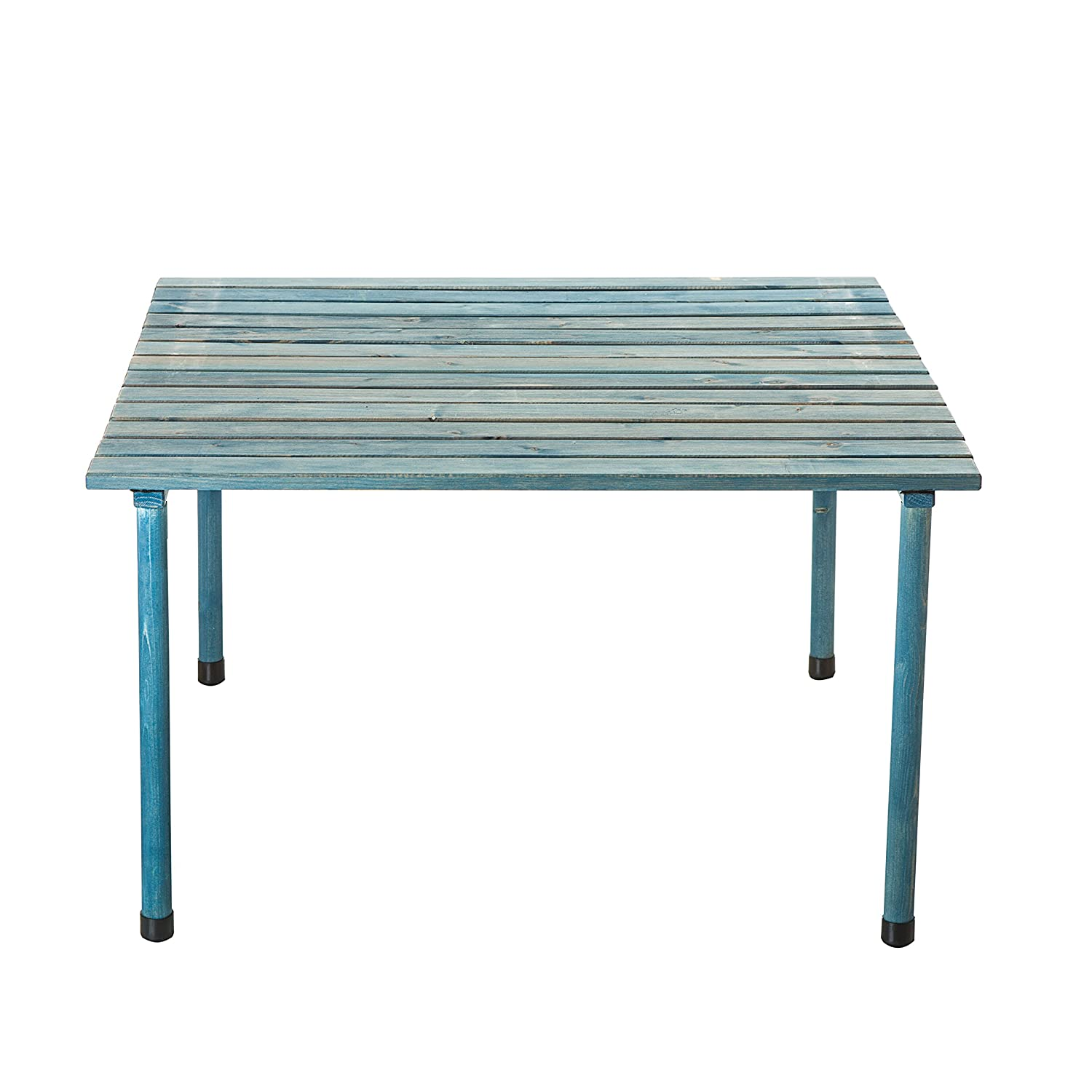 Amazon.com : VYTAL Roll-Up Picnic Table (Blue Wash) - Portable table ...