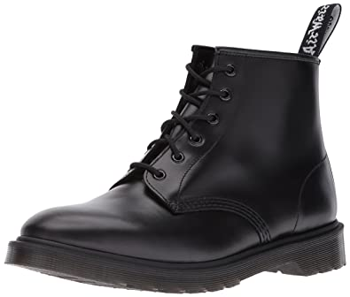 3e34bbd3b9a5 Dr. Martens Unisex Adults 101 Br Smooth Punk Retro Ankle Leather Boots -  Black Vintage