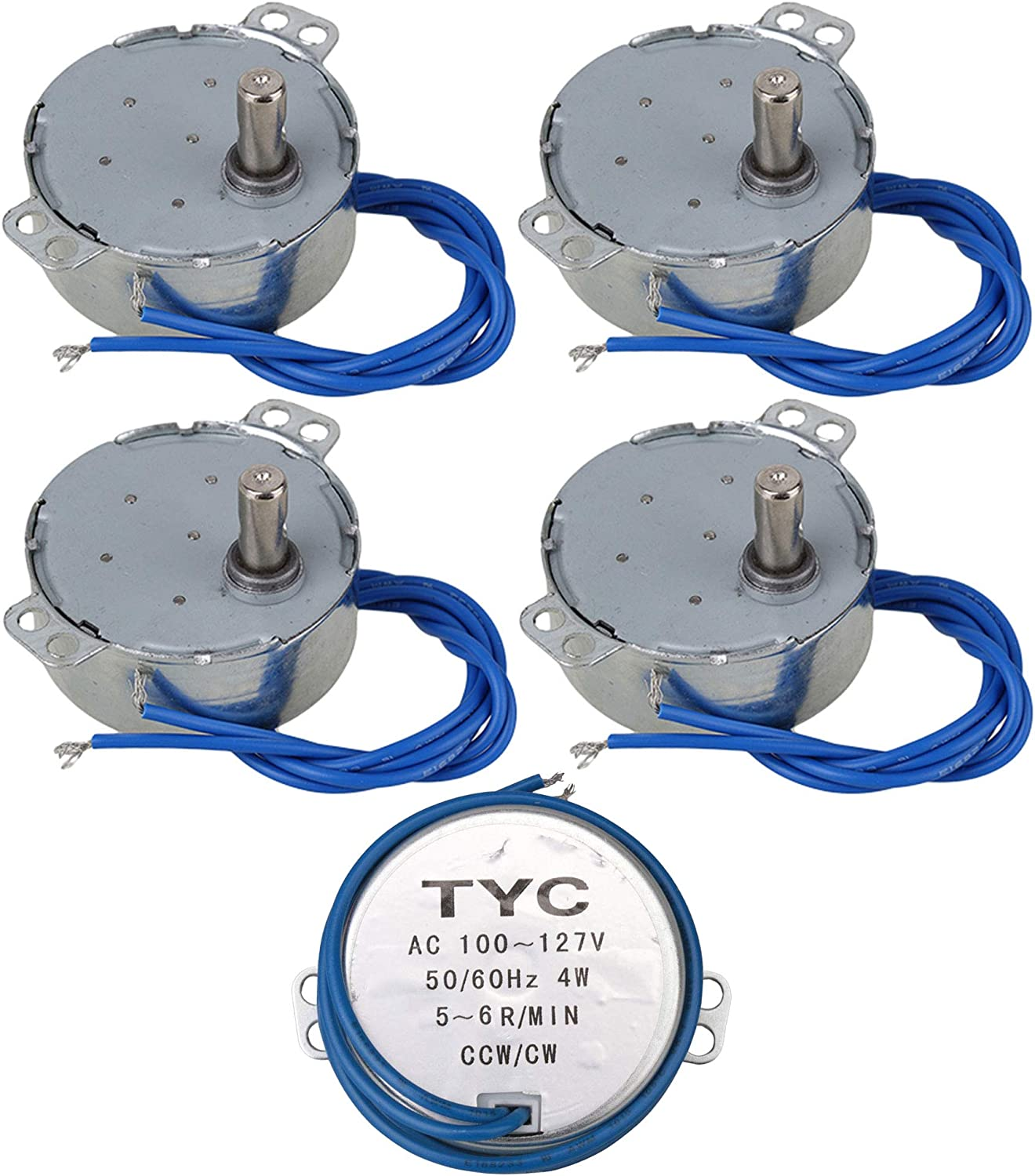AC110V TYC-50 Non-Directional Synchronous Motor 5-6rpm Pack of 10