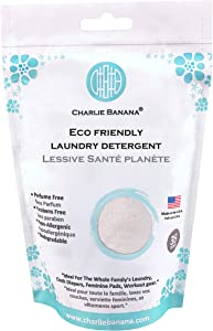 Charlie Banana Laundry Detergent Pouch, White, 1.1 Pound