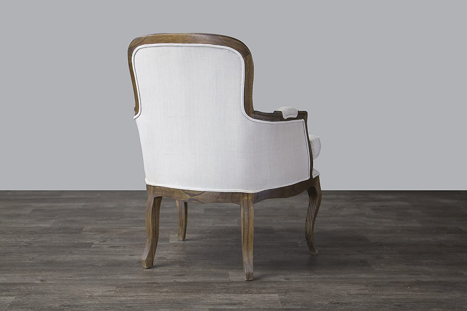 Amazon.com   Baxton Studio Napoleon Traditional French Accent Chair, Ash    Chairs