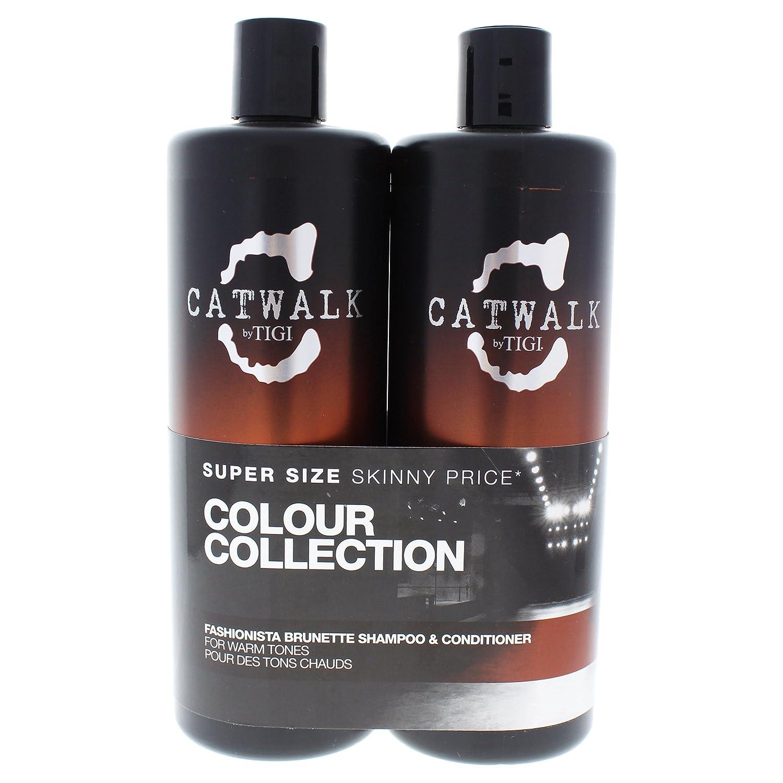Tigi Catwalk Fashionista Brunette Tween Shampoo & Condizionatore - Confezione da 2 x 750 ml 615908950786