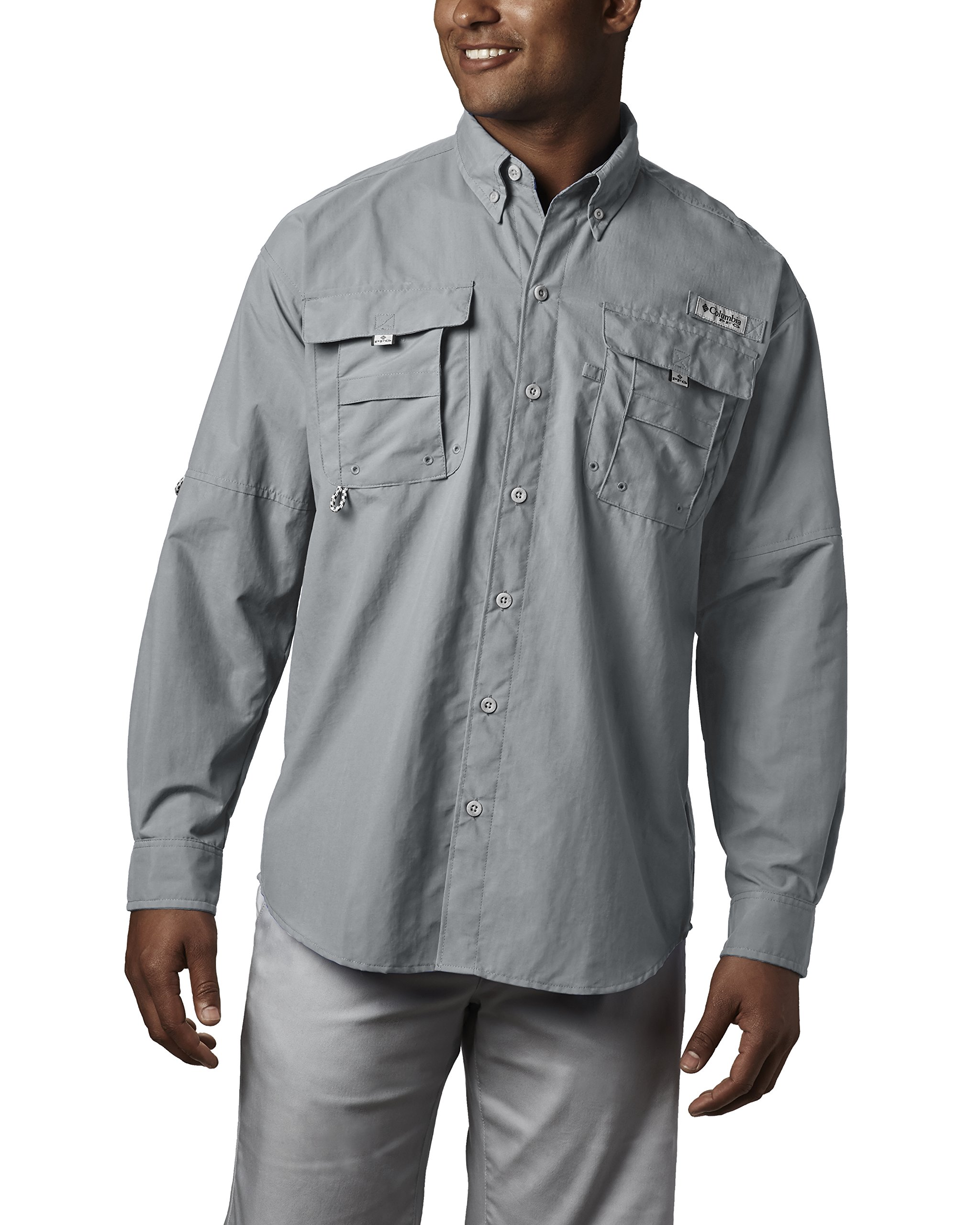 Columbia Men's Bahama II Long Sleeve Shirt, Cool Grey, X-Large