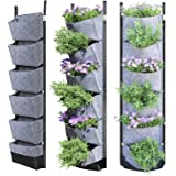 NEWKITS Vertical Wall Garden Planter with 6 Pockets Best Plant Growth Design Large Space Waterproof Breathable Use for…