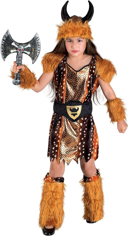 Generique - Disfraz Vikingo niña: Amazon.es: Juguetes y juegos