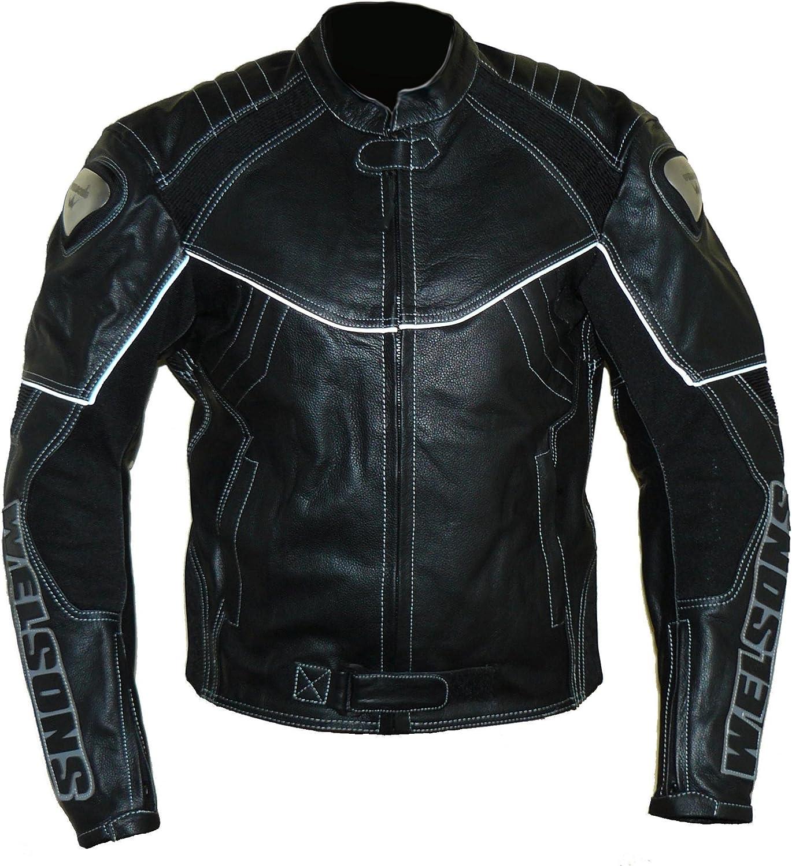 noir WMB-303 Taille: M Protectwear Veste de moto en cuir